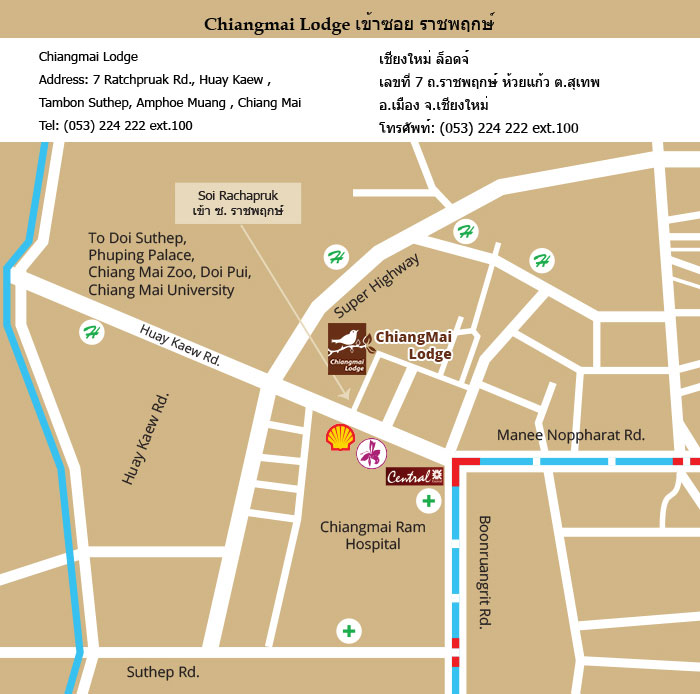 Location and Map of Chiangmai Lodge, Hotel and Serviced Apartment ...